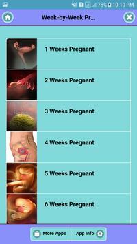 Week by Week Pregnancy poster