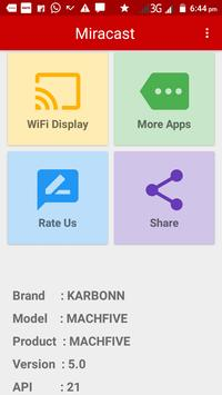Miracast Screen Mirroring (Wifi Display) apk screenshot