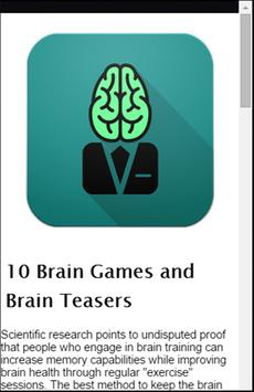 Fit Brain Trainer Special screenshot 3