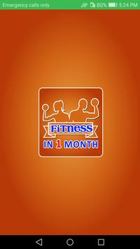 Fitness in one month - Body Building poster
