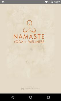 NAMASTE YOGA + WELLNESS poster