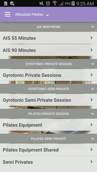 ABsolute Pilates Charlotte apk screenshot