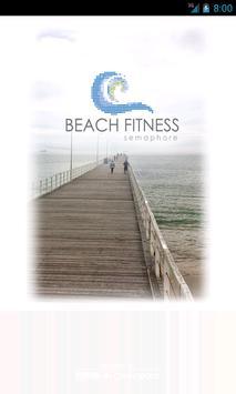 Beach Fitness Semaphore poster