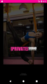 PRIVATE SQUAD FITNESS STUDIO poster