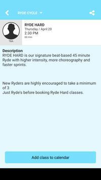 RYDE cycle apk screenshot