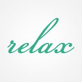 Relax body and beauty icon