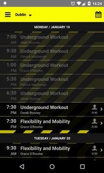 Underground Fitness apk screenshot