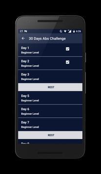 30 Days Abs Challenge screenshot 1