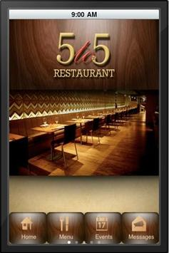 5 to 5 Restaurant poster