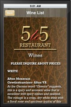 5 to 5 Restaurant apk screenshot