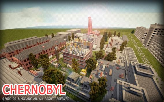 Pripyat City map for MCPE poster