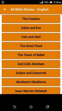 All Bible Stories in English - Full Version - Free screenshot 1