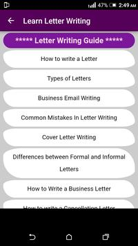 Learn English Letter Writing - With 1000+ Examples screenshot 3