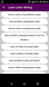 Learn English Letter Writing - With 1000+ Examples screenshot 4