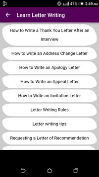 Learn English Letter Writing - With 1000+ Examples screenshot 5
