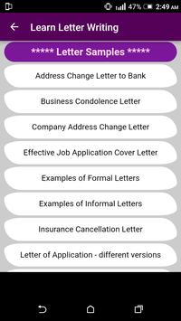 Learn English Letter Writing - With 1000+ Examples screenshot 6