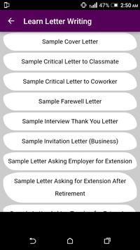 Learn English Letter Writing - With 1000+ Examples screenshot 8