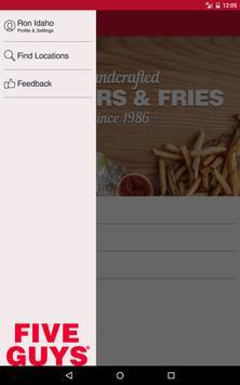 Five Guys Burgers & Fries apk screenshot