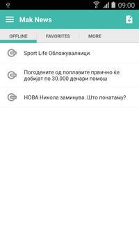 Macedonia News apk screenshot