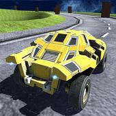 Racing Cartoon Car icon