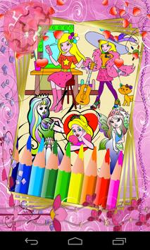 Coloring For Kids - Princess poster