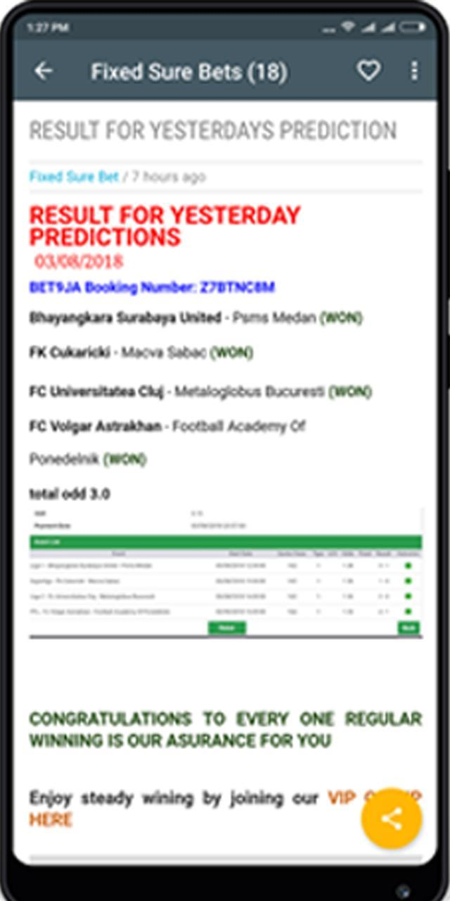Football prediction - Fixed Sure Bets for Android - APK Download