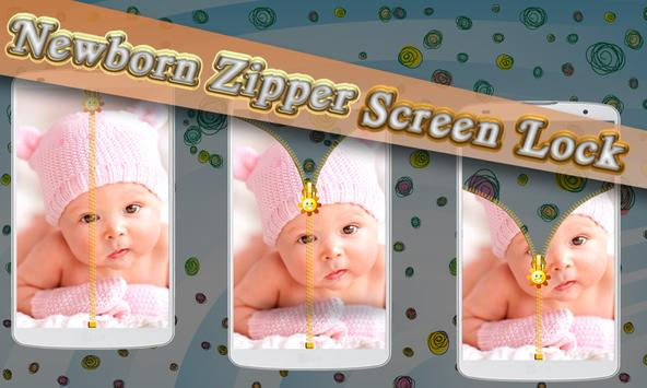 Newborn Zipper Screen Lock apk screenshot