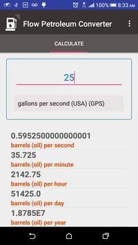 Converting Units Flow Petroleum screenshot 1