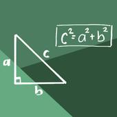 Pythagoras theorem icon