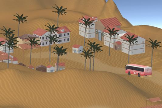 3D Desert Safari Tour Bus poster