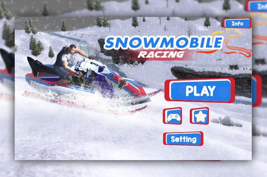 Snow Mobile Racing poster
