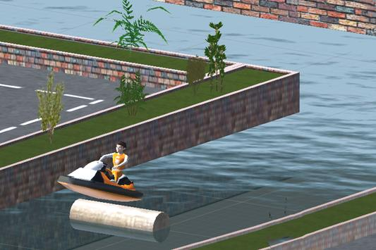Speed jet Ski City Canal apk screenshot