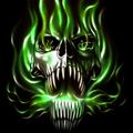 flame skull live wallpaper