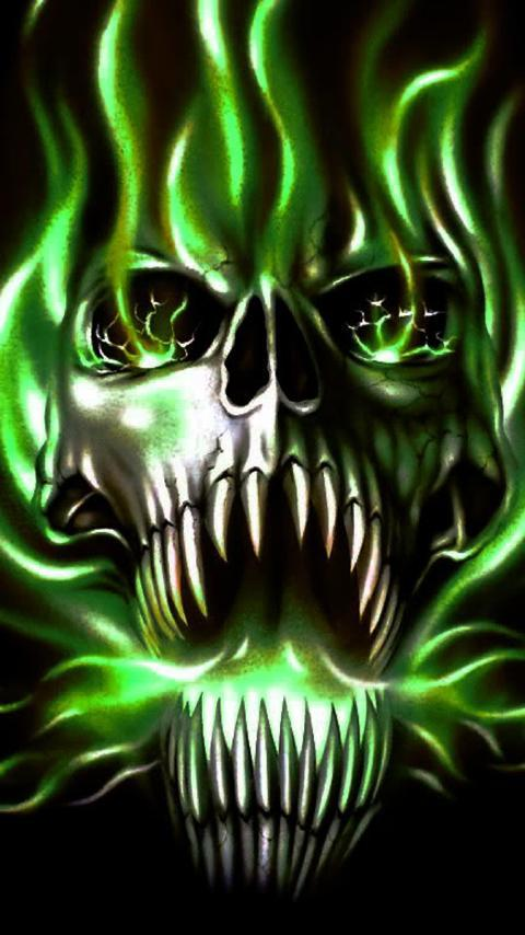 Flame Skull Live Wallpaper For Android Apk Download