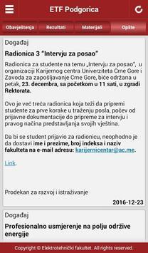 ETF Podgorica apk screenshot