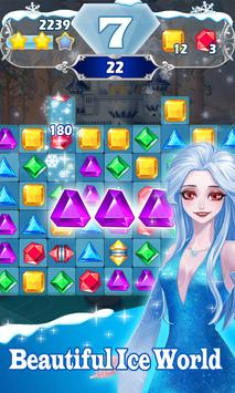 Jewels Frozen - Classic Match 3 Game poster