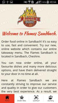 Flames Sandbach poster
