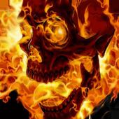Burning skull live wallpaper icon