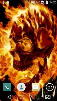Burning skull live wallpaper apk screenshot