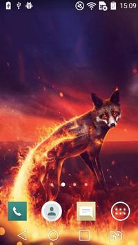 Fiery fox live wallpaper poster