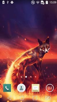 Fiery fox live wallpaper apk screenshot