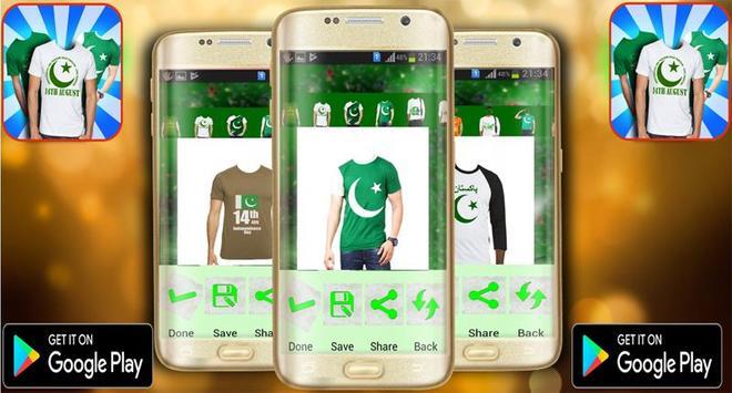 Pakistan Flag Suit Editor photo screenshot 1