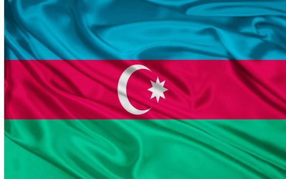 Azerbaijan Flag Wallpapers poster