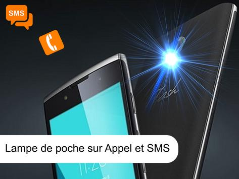 flash alerte sms appel et notification poster