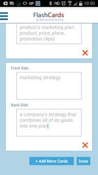 FlashCards BusinessDictionary apk screenshot