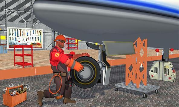Real Plane Mechanic: Airplane Ground Flight Staff screenshot 1