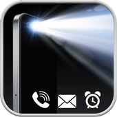 Flash Light Incoming - Caller - SMS - Notification icon