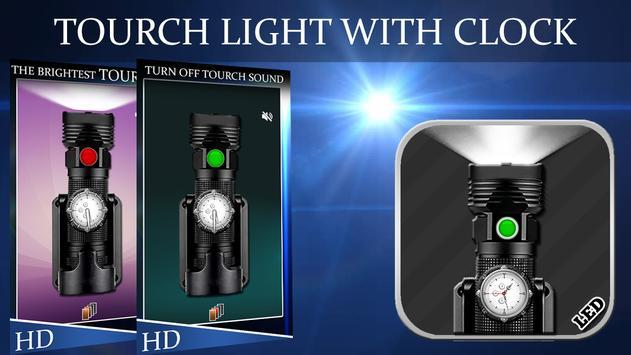 Flashlight With Clock(Widget) poster