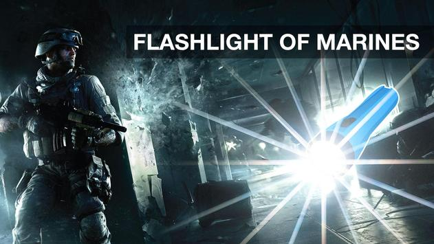 Flashlight of Marines Widget poster