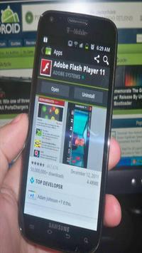 New Flash player Android guide apk screenshot